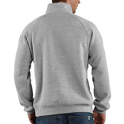 Carhartt Men's Black Midweight Quarter-Zip Mock-Neck Sweatshirt - back