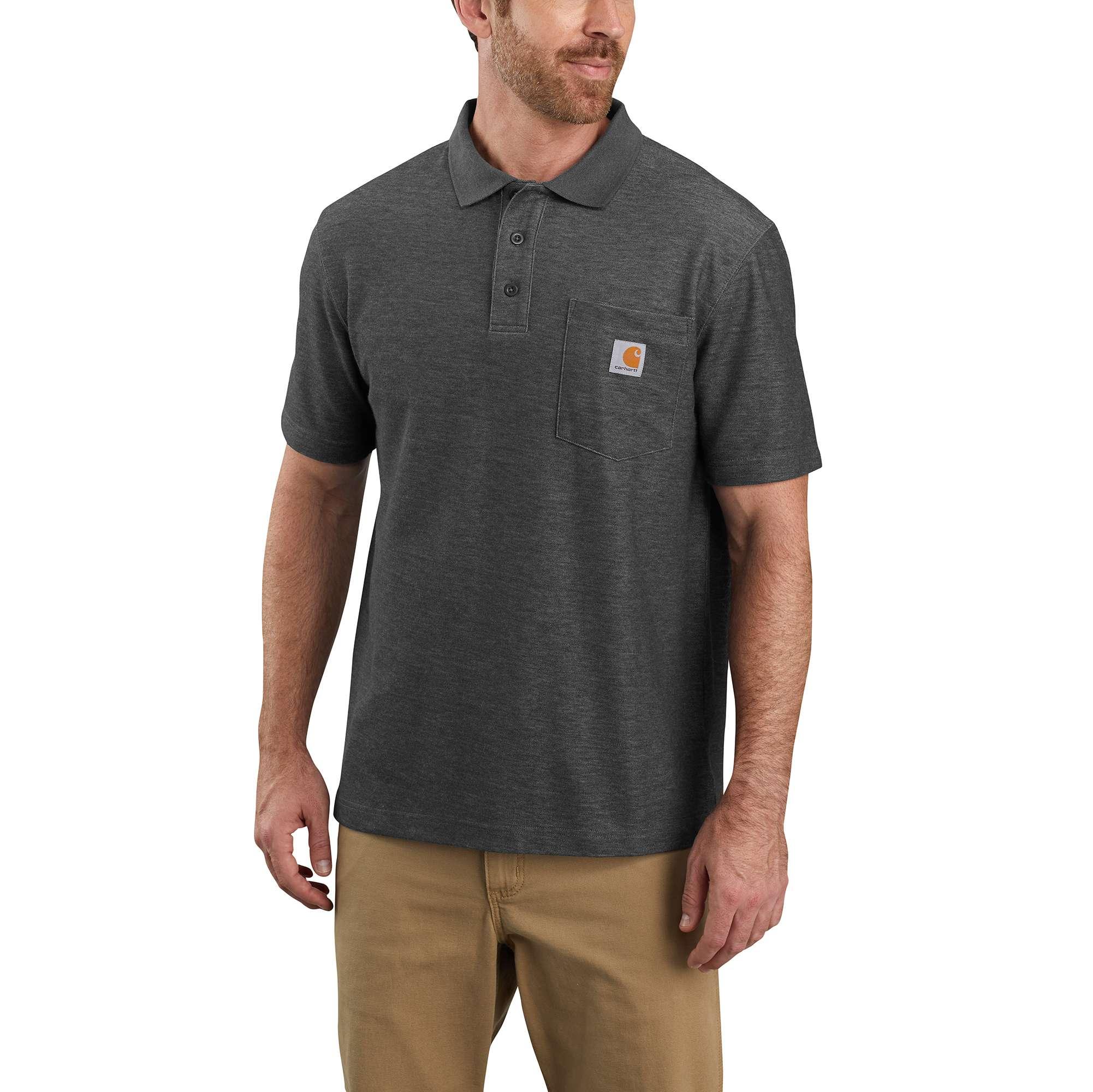 Men's Loose Fit Midweight Short-Sleeve Pocket Polo K570   Carhartt