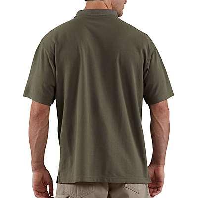 Carhartt Men's Dark Cobalt Blue Heather Contractor's Work Pocket® Polo - back
