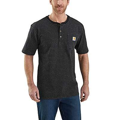 Carhartt Men's Black Workwear Short-Sleeve Henley T-Shirt - front
