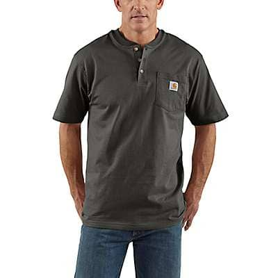 Carhartt Men's Peat Workwear Short-Sleeve Henley T-Shirt - front