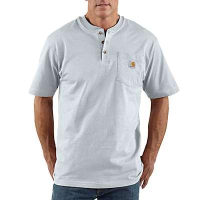 Carhartt Men's Ash Workwear Short-Sleeve Henley T-Shirt - front