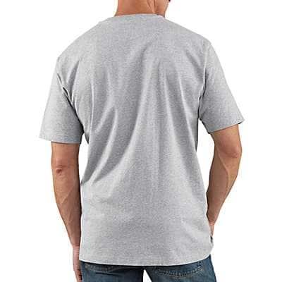 Carhartt Men's Peat Workwear Short-Sleeve Henley T-Shirt - back