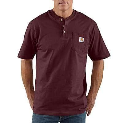 Carhartt Men's Port Loose Fit Heavyweight Short-Sleeve Pocket Henley T-Shirt