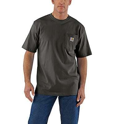 Carhartt  Carbon Heather Workwear Pocket T-Shirt - front