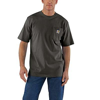 Carhartt Men's Carbon Heather Workwear Pocket T-Shirt - back