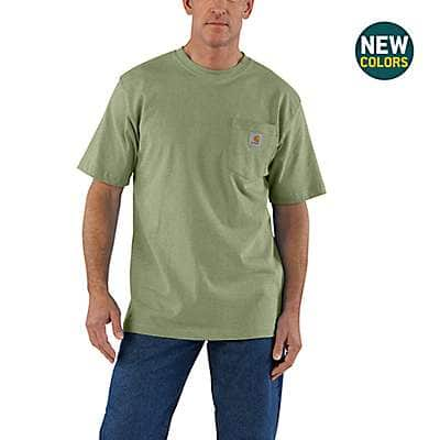 Carhartt Men's Carbon Heather Workwear Pocket T-Shirt - front