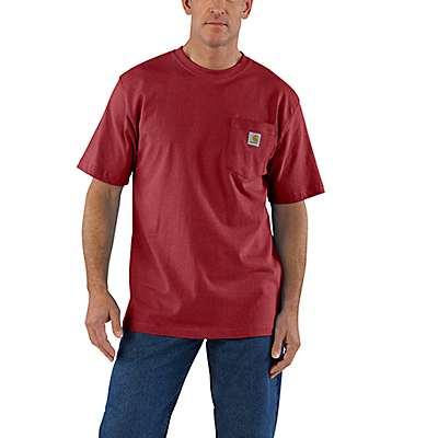 Carhartt Men's Sun-Dried Tomato Heather Workwear Pocket T-Shirt - front