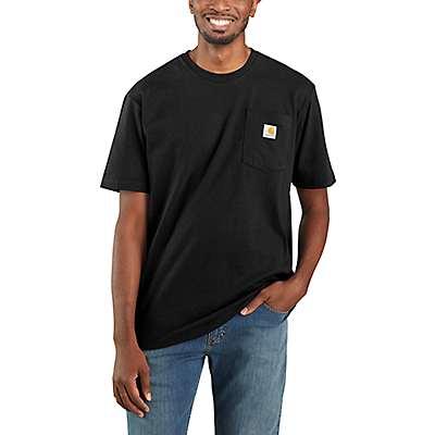 Carhartt Men's Black Workwear Pocket T-Shirt - front