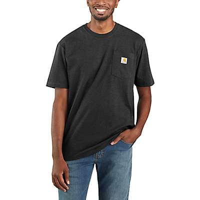 Carhartt  Black Workwear Pocket T-Shirt - front