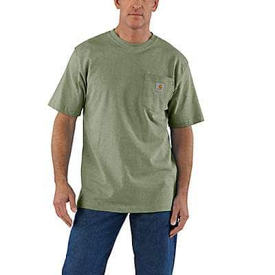 Carhartt Men's Olivine Heather Workwear Pocket T-Shirt - front