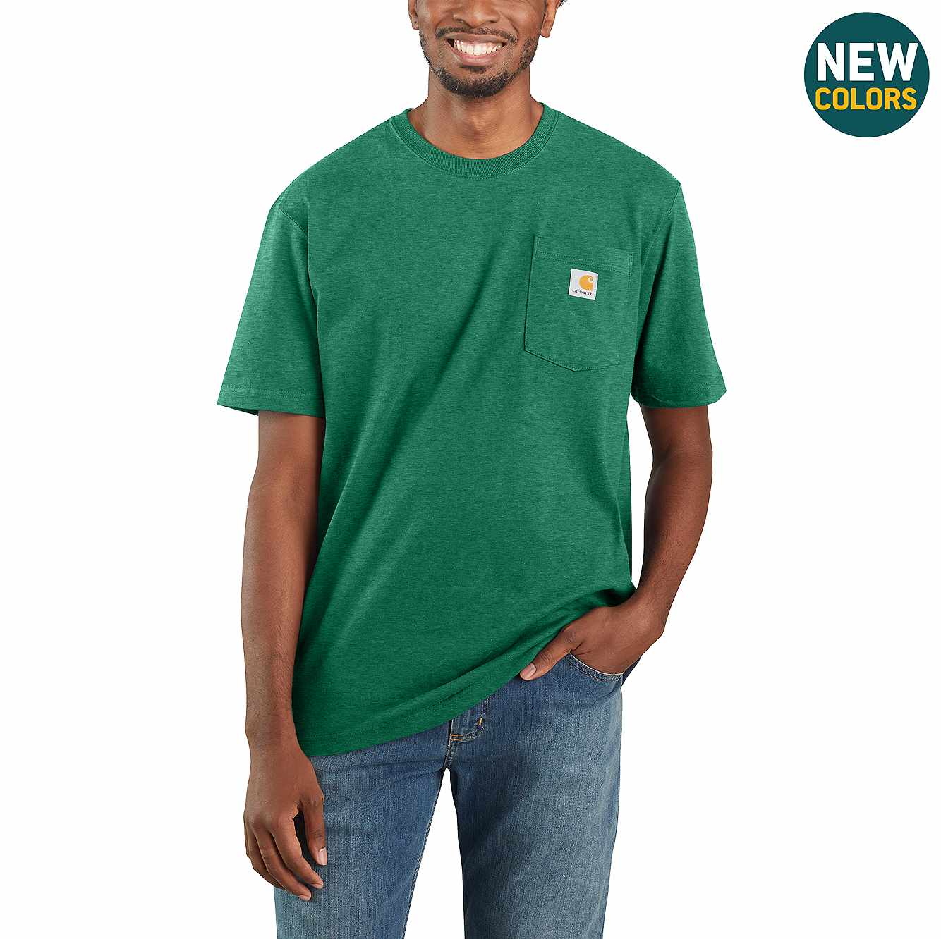 Picture of Loose Fit Heavyweight Short-Sleeve Pocket T-Shirt in North Woods Heather