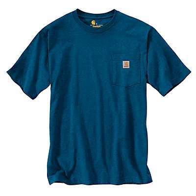 Carhartt Men's Bold Blue Heather Workwear Pocket T-Shirt - front