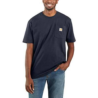 Carhartt Men's Navy Workwear Pocket T-Shirt - front