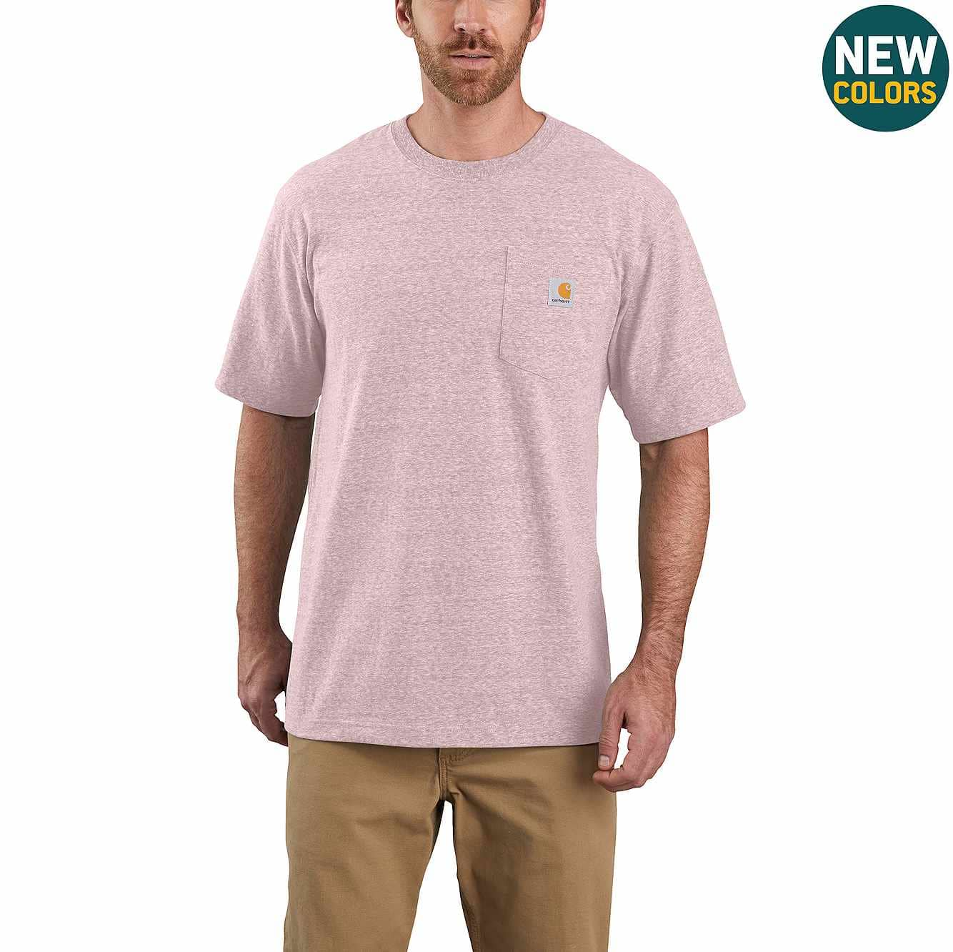 Picture of Loose Fit Heavyweight Short-Sleeve Pocket T-Shirt in Crepe Snow Heather