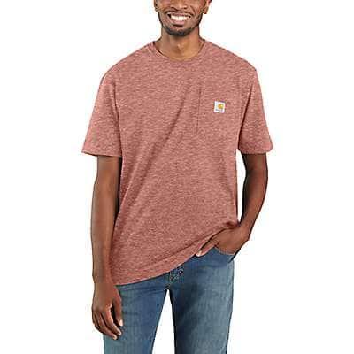 Carhartt Men's Feldspar Snow Heather Loose Fit Heavyweight Short-Sleeve Pocket T-Shirt