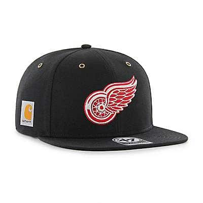Carhartt Unisex Black Detroit Red Wings Carhartt x '47 Captain - front