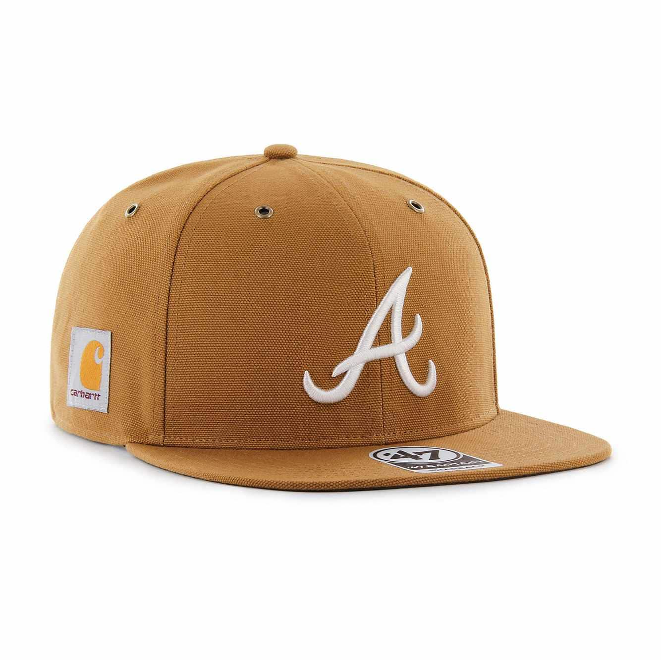 Picture of Atlanta Braves Carhartt x '47 Captain in Carhartt Brown