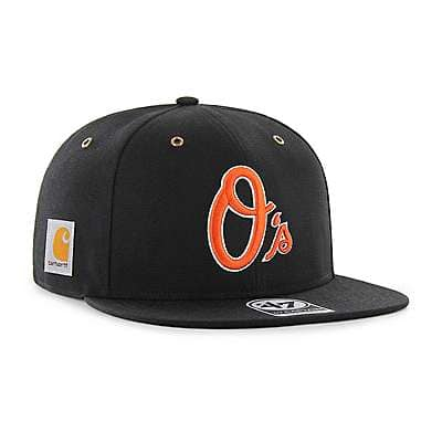 Carhartt Men's Black Baltimore Orioles Carhartt x '47 Captain - front