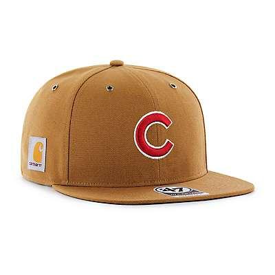Carhartt Men's Carhartt Brown Chicago Cubs Carhartt x '47 Captain - front