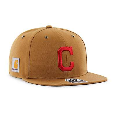 Carhartt Men's Carhartt Brown Cleveland Indians Carhartt x '47 Captain - back