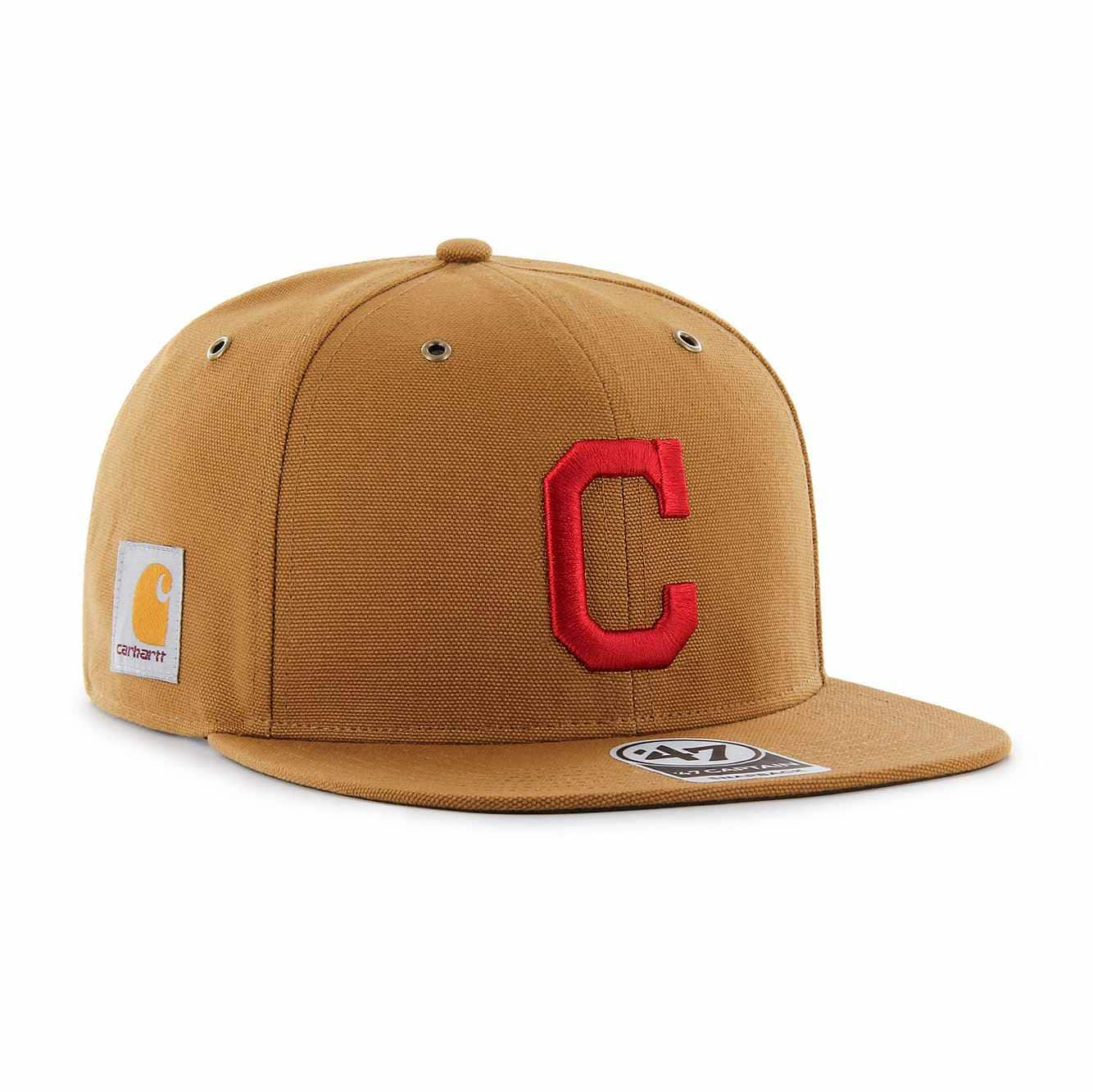 Picture of Cleveland Indians Carhartt x '47 Captain in Carhartt Brown