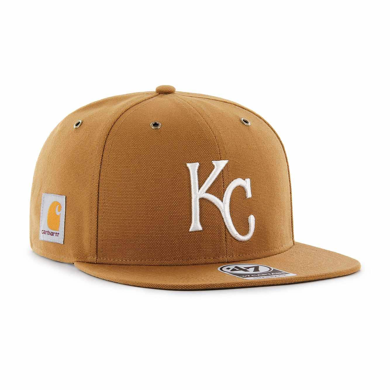 Picture of Kansas City Royals Carhartt x '47 Captain in Carhartt Brown