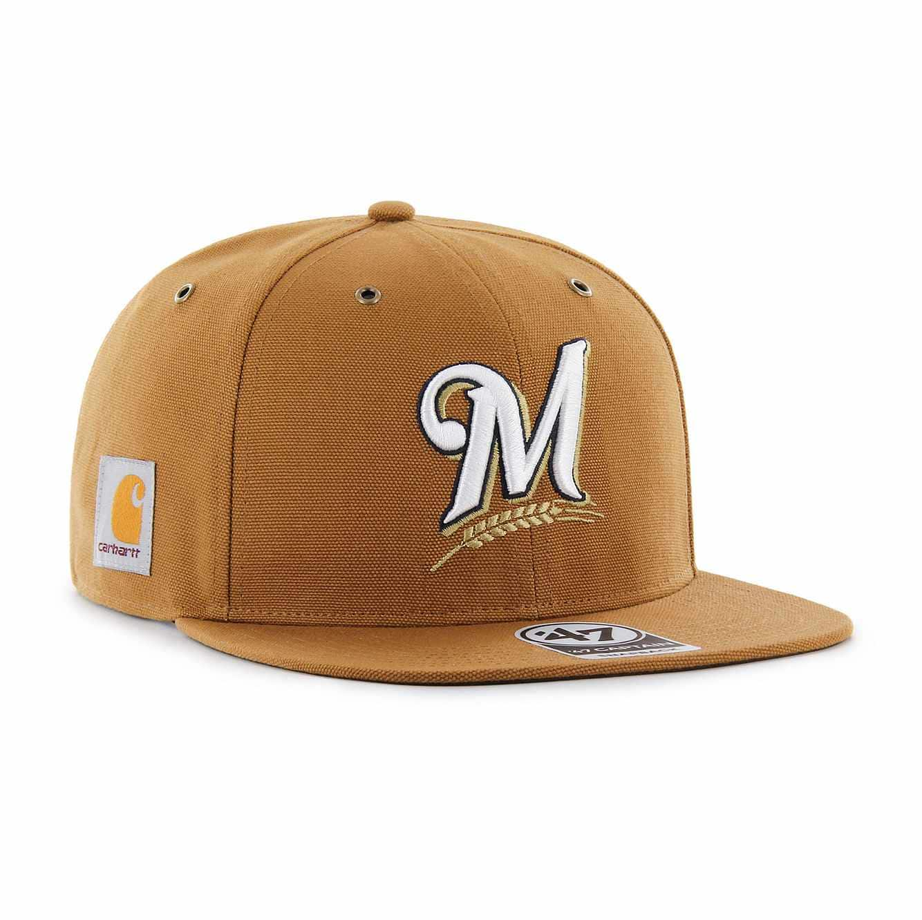 Picture of Milwaukee Brewers Carhartt x '47 Captain in Carhartt Brown