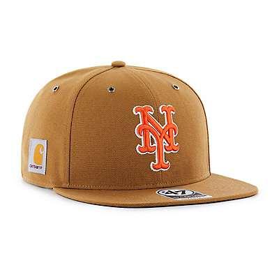 Carhartt Men's Carhartt Brown New York Mets Carhartt x '47 Captain - front