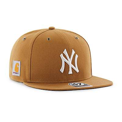 Carhartt Men's Carhartt Brown New York Yankees Carhartt x '47 Captain - front