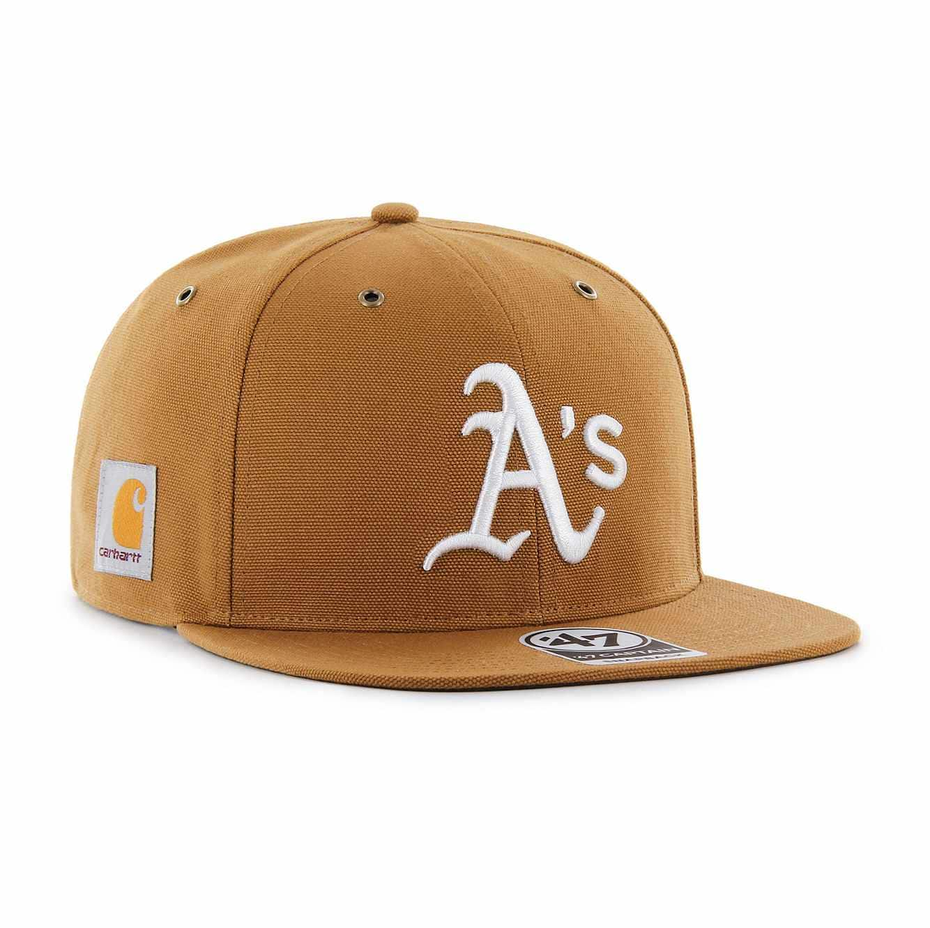 Picture of Oakland Athletics Carhartt x '47 Captain in Carhartt Brown