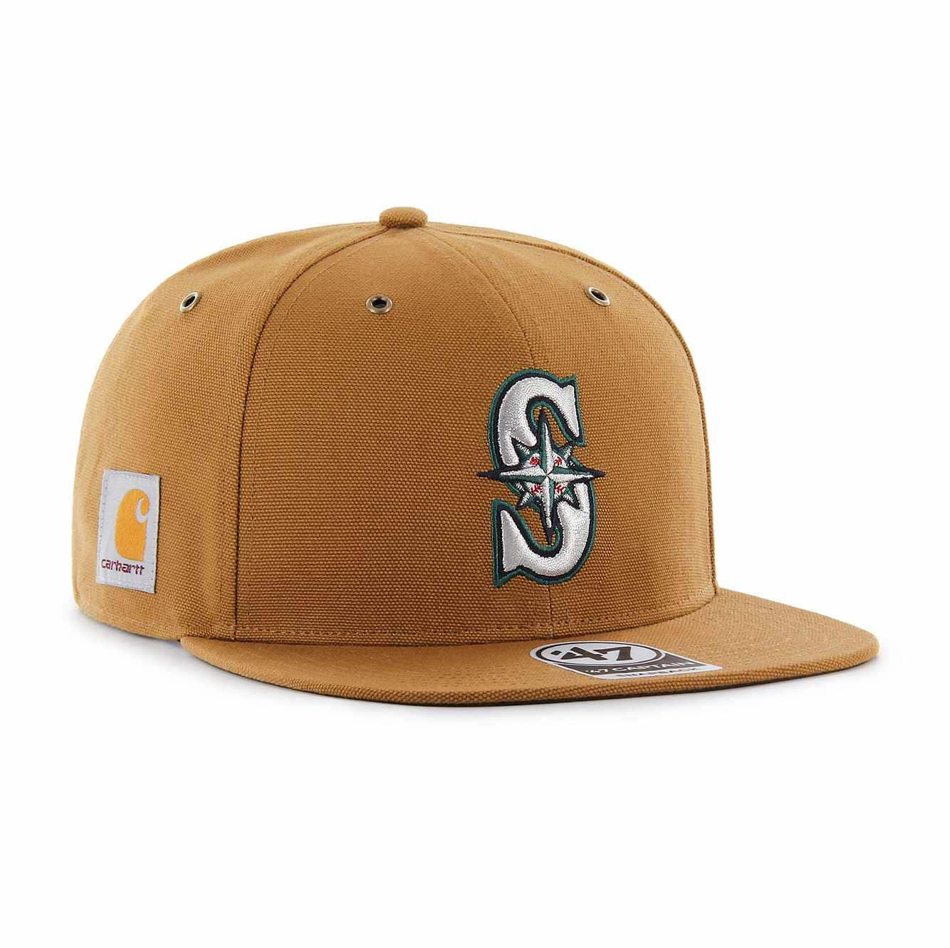 Picture of Seattle Mariners Carhartt x '47 Captain in Carhartt Brown
