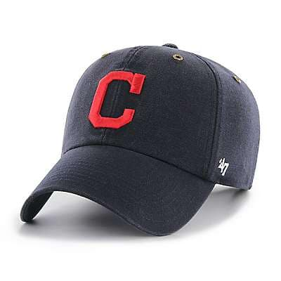 Carhartt Men's Carhartt Brown Cleveland Indians Carhartt x '47 Clean Up - front