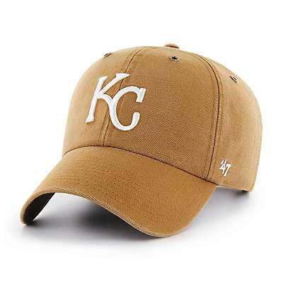 Carhartt Men's Carhartt Brown Kansas City Royals Carhartt x '47 Clean Up - front