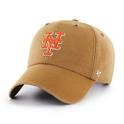 Carhartt Men's Carhartt Brown New York Mets Carhartt x '47 Clean Up - front