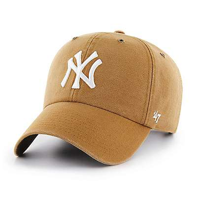 Carhartt Men's Carhartt Brown New York Yankees Carhartt x '47 Clean Up - front
