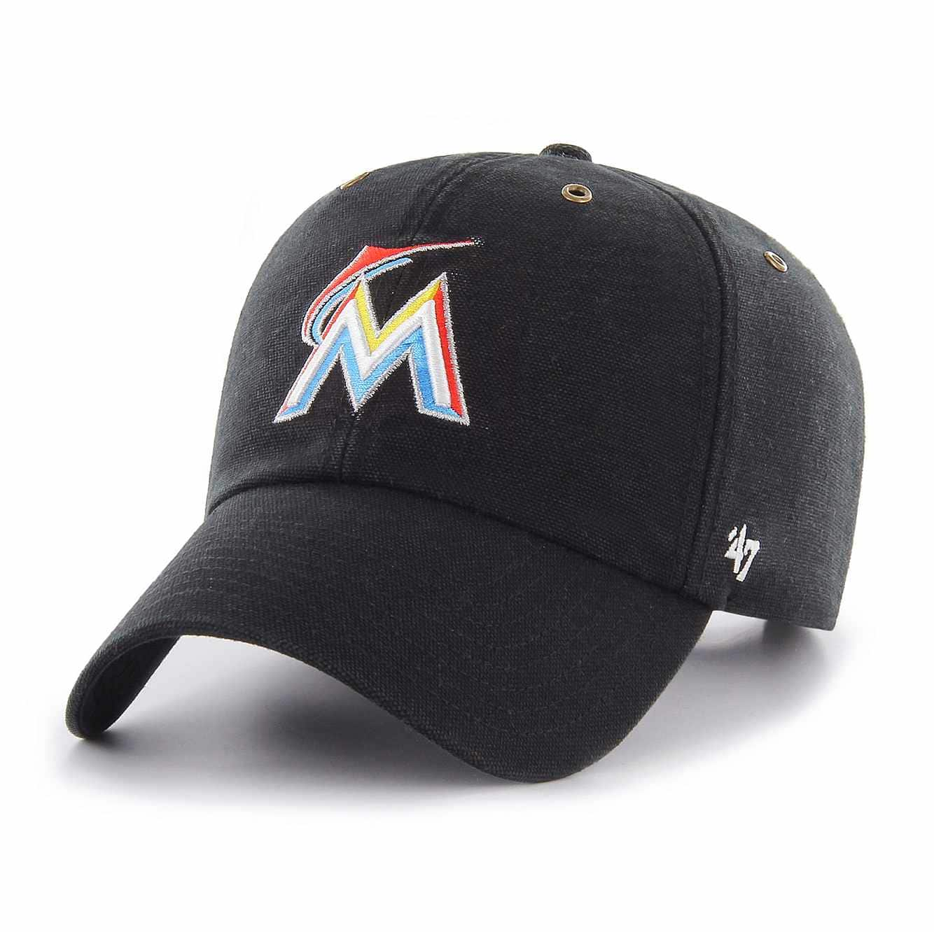 Picture of Miami Marlins Carhartt x '47 Clean Up in Black