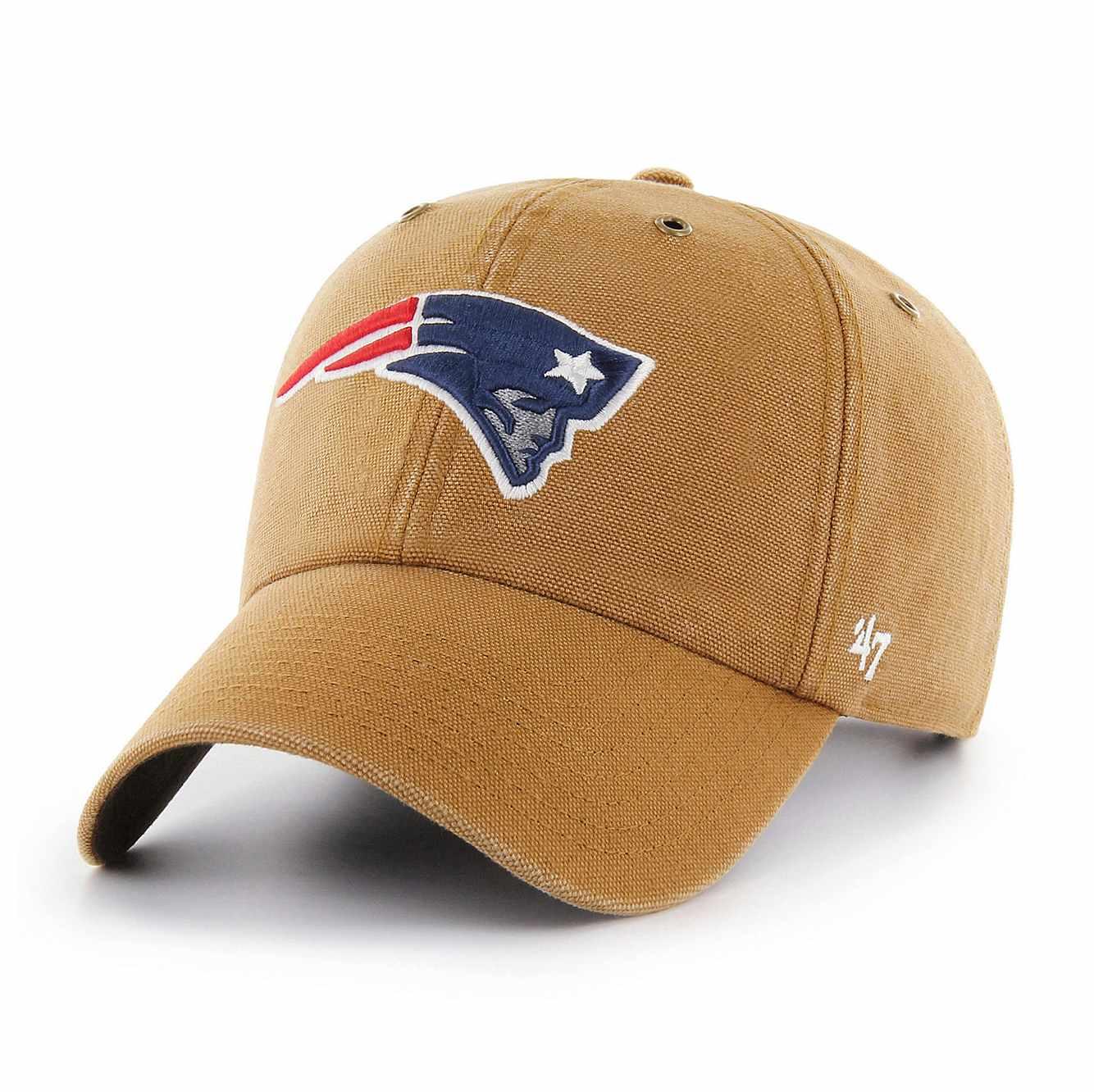 Carharrt x '47 Clean Up Adjustable Strapback Cap (New England Patriots) (2 color options)