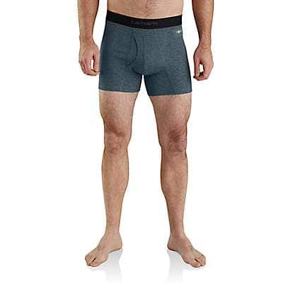 "Carhartt  Burnt Olive Grid Carhartt Base Force® 5"" Tech Boxer Brief - front"