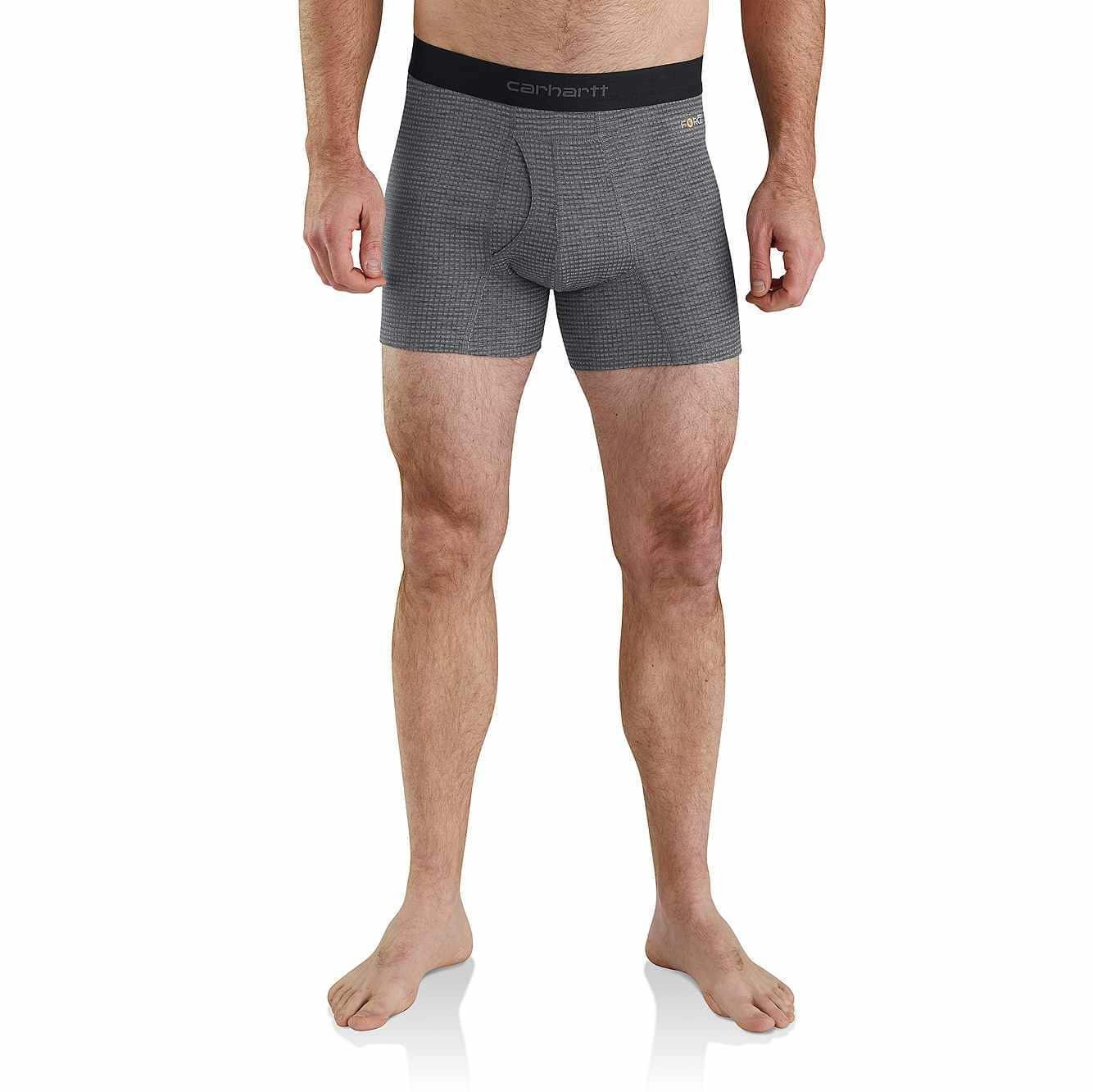 "Picture of Carhartt Base Force® 5"" Tech Boxer Brief in Shadow Grid"