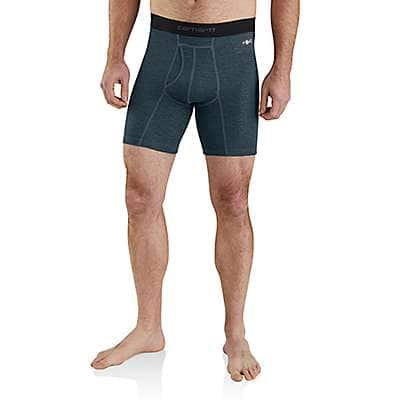 "Carhartt  Navy Grid Carhartt Base Force® 8"" Tech Boxer Brief - front"