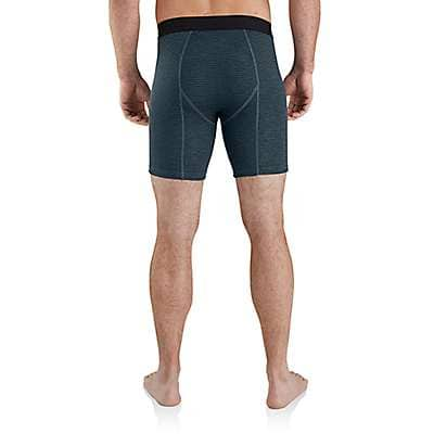 "Carhartt  Navy Grid Carhartt Base Force® 8"" Tech Boxer Brief - back"
