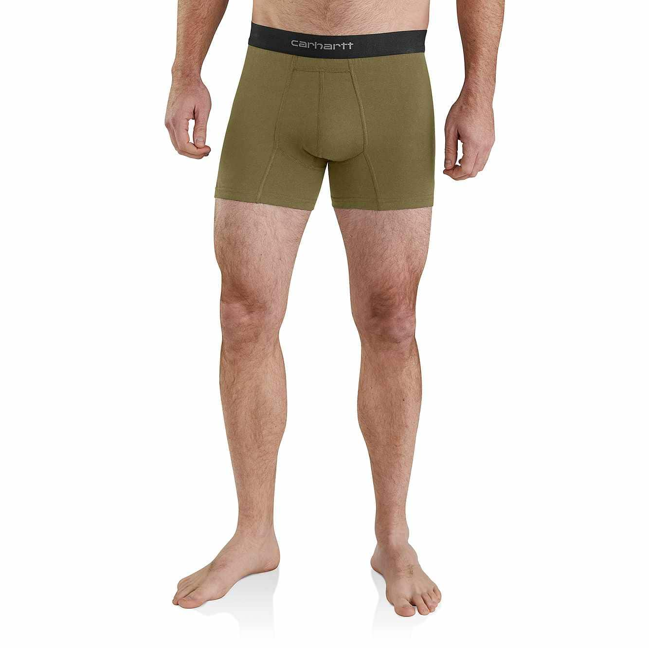"""Picture of 5"""" Basic Boxer Brief 2-Pack in Burnt Olive"""