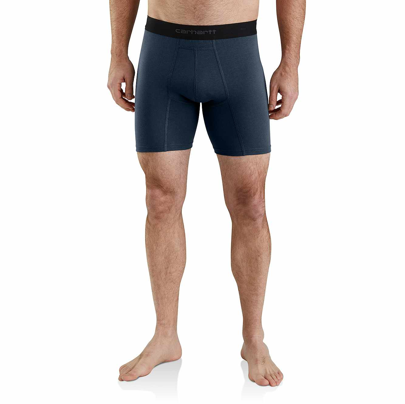 """Picture of 8"""" Basic Boxer Brief 2-Pack in Navy"""