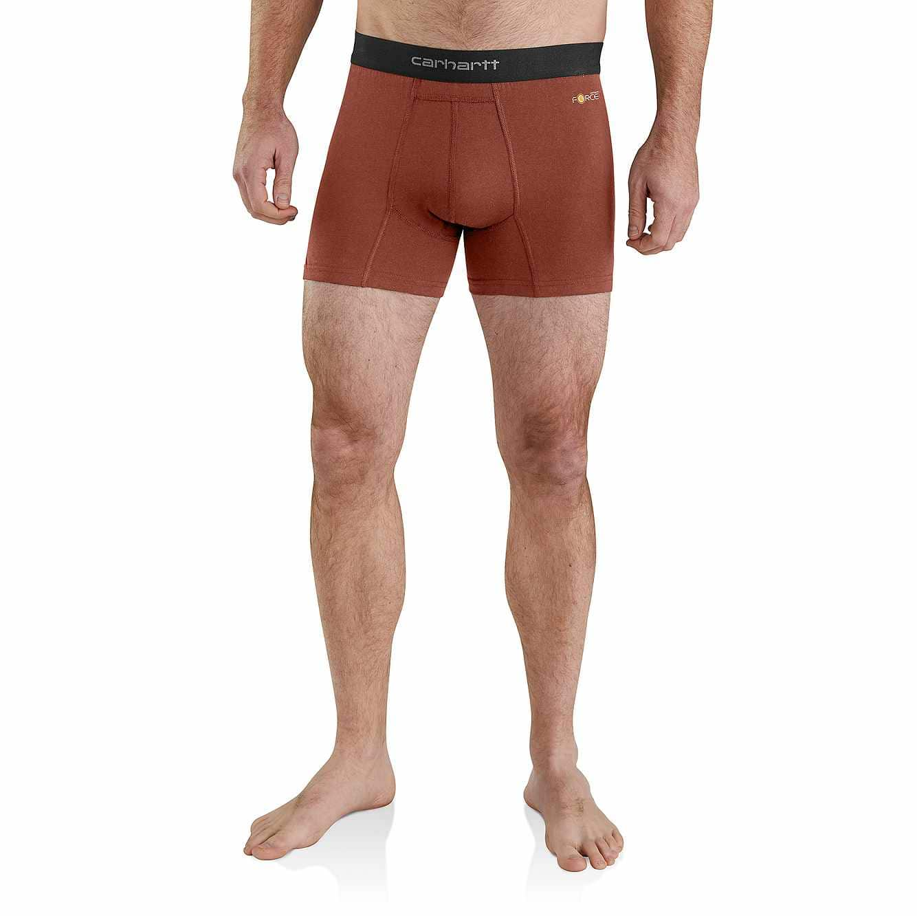 """Picture of Carhartt Base Force® 5"""" Premium Boxer Brief in Fired Brick Heather"""