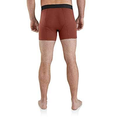 "Carhartt Men's Shadow Heather Carhartt Base Force® 5"" Premium Boxer Brief - back"