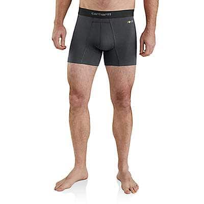 "Carhartt Men's Shadow Heather Carhartt Base Force® 5"" Premium Boxer Brief - front"