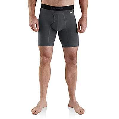 "Carhartt Men's Shadow Heather Carhartt Base Force® 8"" Premium Boxer Brief - front"