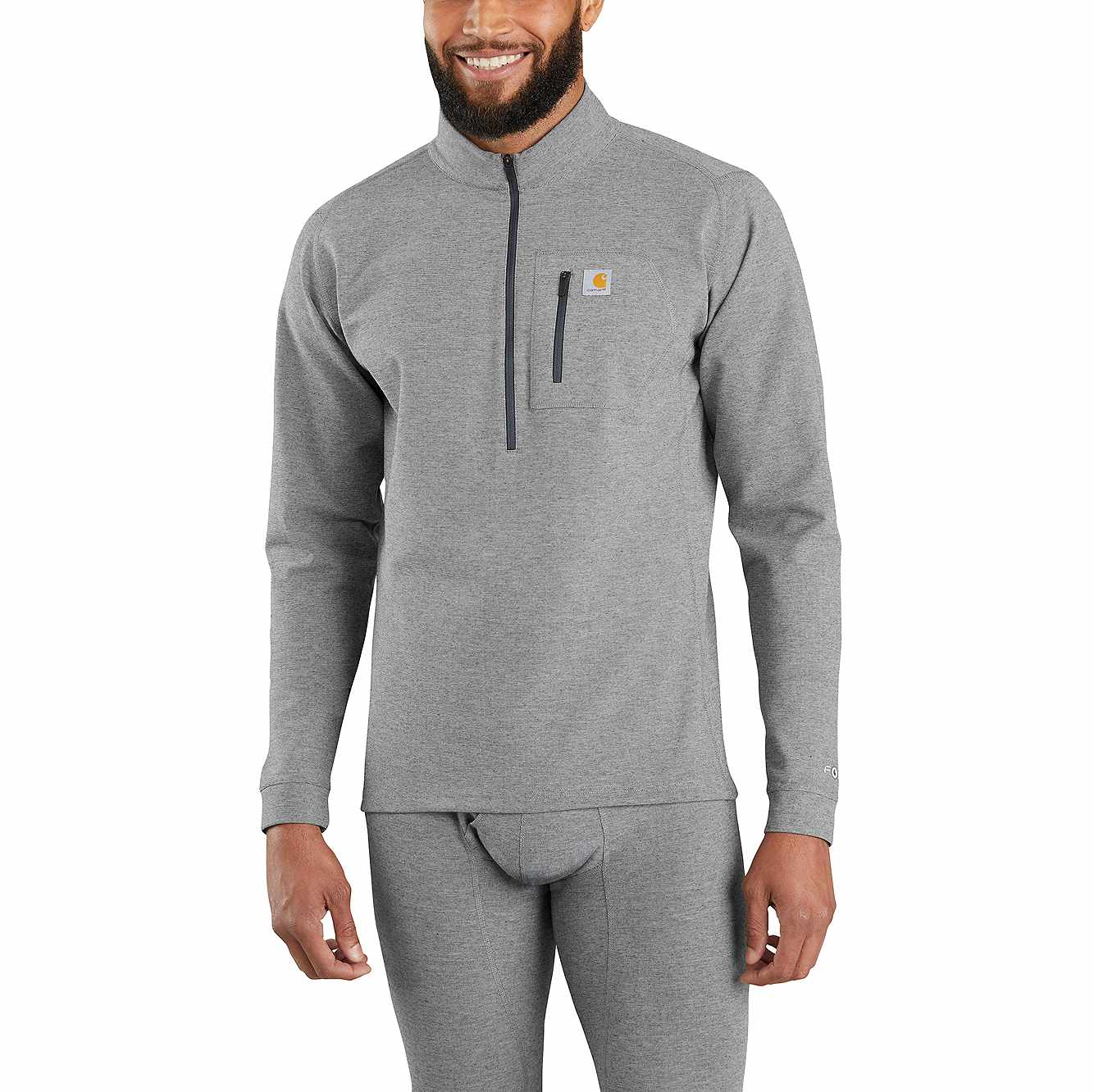 Picture of Base Force® Heavyweight Quarter-Zip in Shadow Gray