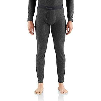Carhartt Men's BLACK HEATHER Base Force® Heavyweight Poly-Wool Bottom